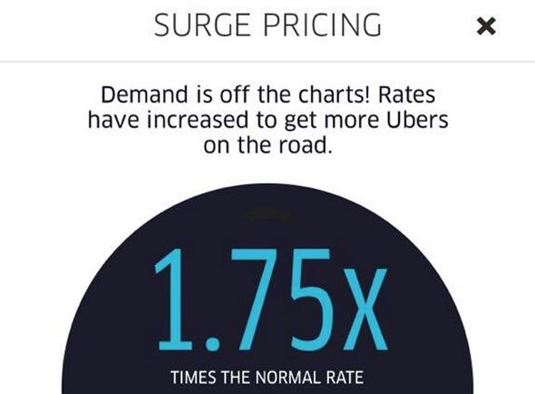 Uber Surge Pricing Icon